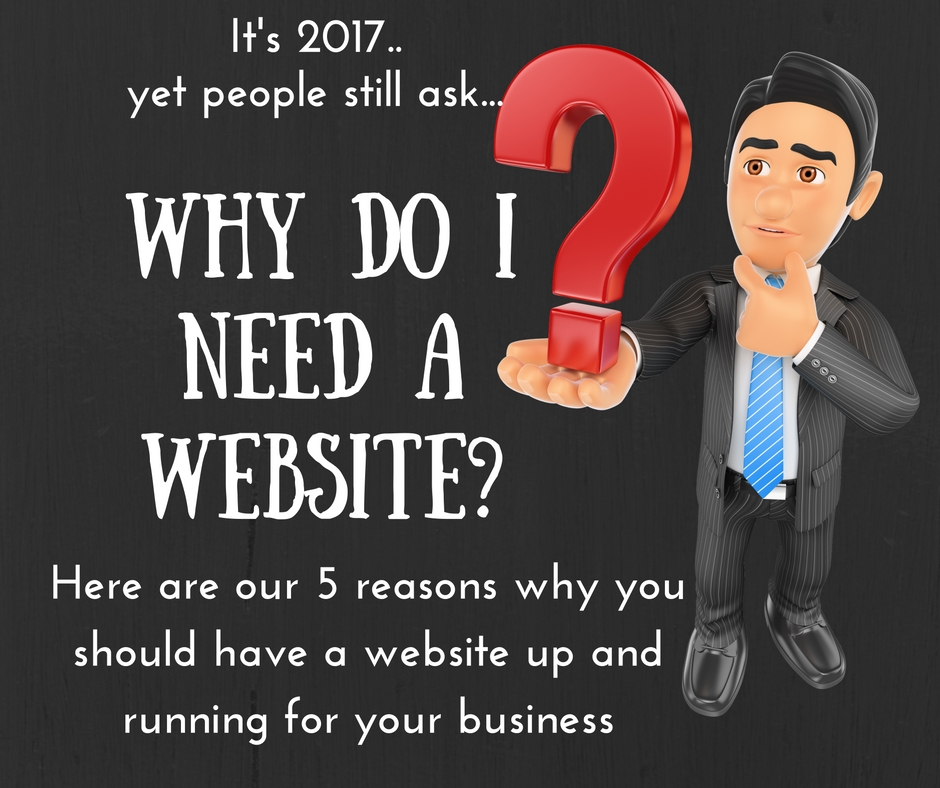 Our top 5 reasons why you should have a website up and running in 2017