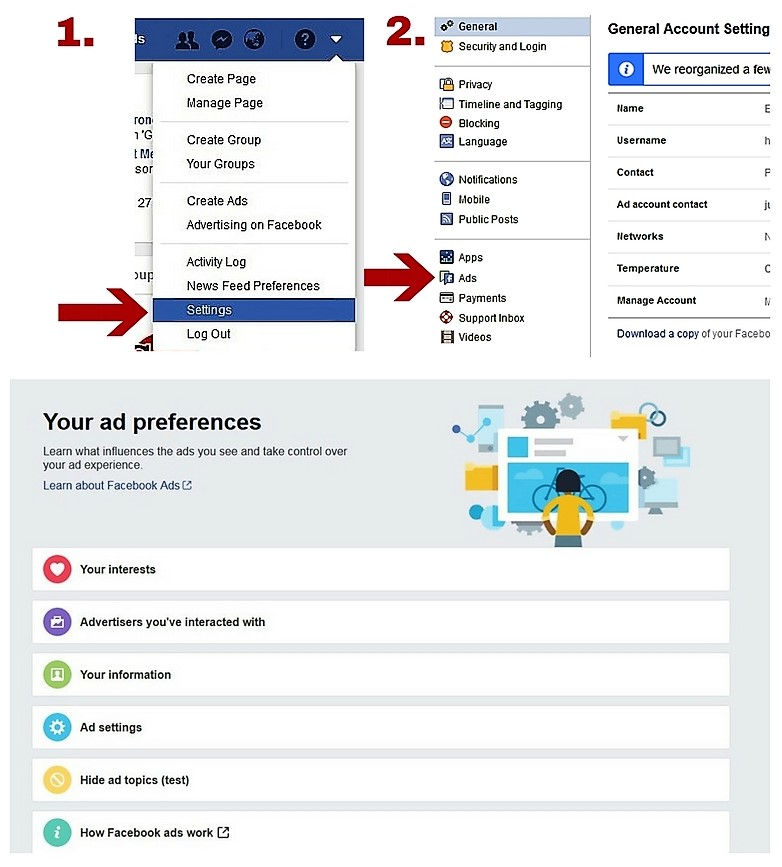 how to control advertising on facebook